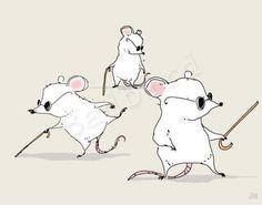Three Blind Mice (Etsy: badbird)