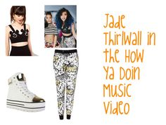 """Jade Thirlwall in the How Ya Doin Music Video"" by little-mix-fashionlover ❤ liked on Polyvore featuring Lazy Oaf and Topshop"