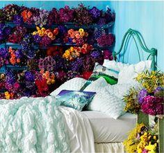 Anthropologie flower wall #FlowerShop