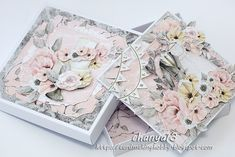 Wedding Paper, Wedding Cards, Diy And Crafts, Paper Crafts, Mixed Media Cards, Exploding Boxes, Pretty Cards, Mail Art, Atc
