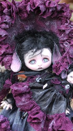 OOAK Fairy Tale Monster Art Doll Victorian Goth by A Gibbons DMA Fairies | eBay