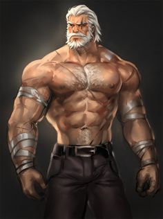 I love giant, brawny, hairy guys.and frankly I don't care if they're real or not. Fantasy Warrior, Fantasy Rpg, Dark Fantasy, Dnd Characters, Fantasy Characters, My Character, Character Concept, Reinhardt Wilhelm, Cartoon Man