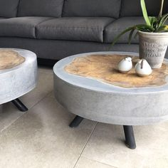 # concrete furniture # furniture # concrete # design # decor # home - All Ideas Table Beton, Concrete Table, Concrete Furniture, Concrete Wood, Concrete Design, Concrete Planters, Furniture Projects, Cool Furniture, Furniture Design