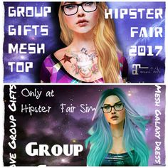 Hipster Female Crop Top & Galaxy Dress The Hipster Fair 2017 Group Gift by Gypsy Chic