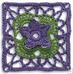 Granny Square Flower Garden [NM161748] - $12.99 : Maggie Weldon, Free Crochet Patterns