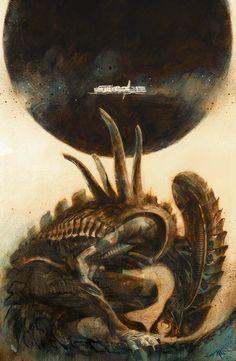 STUNNING #Alien artwork by Massimo Carnevale