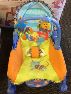 Fisher Price Newborn to Toddler Rocker - Fisher Price Newborn to Toddler Rocker seat vibrates and adds excitement with the toy bar.  Make sure to click the link below to see more great merchandise in store now!  - $30.00