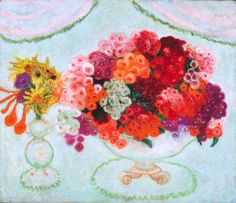 pintoras:  Florine Stettheimer (American, 1871 - 1944): Still Life with Flowers (1921) (via Fine Arts Museums of San Francisco)