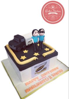 Battery & Truck Cake By Belle's Kitchen, To Order Contact Our WA: 081294055786, Line: Bellekitchen, Also Be Sure To Follow Our Instagram @belle_kitchen