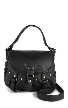 Deb Shops Casual Bag with Flap Closure and Buckles $19.50