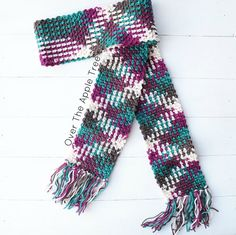 Woman's Scarf, Argyle Scarf, Color Pooling