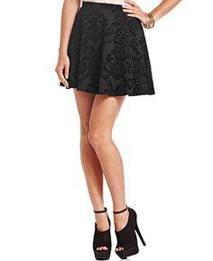 BCX Skirt, Brocade Skater - Juniors Skirts - Macy's