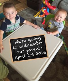 3rd Sibling Pregnancy announcement. We will soon outnumber our parents. Expecting 3rd child.