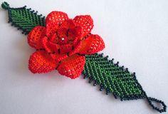 Huichol Beaded Flower Bracelet