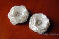 Bridal Silk Hair Flower Accessory 2 Piece Set by MikiyeCreations. $89.00, via Etsy.