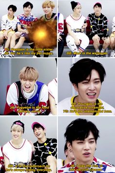you guys. the question was to describe the members' roles in the dorms, not throw shades at each other. Got7 Meme, Got7 Funny, Funny Kpop Memes, Hilarious, Youngjae, Yugyeom, Meme Center, Got7 Jackson, After Life