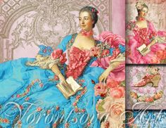 DAME de VERSAILLES 4 images  Digital Collage by VorontsovaART, $3.33