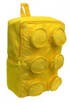741109eb9733 Lego Brick Shaped Yellow School Backpack « Clothing Impulse Lego Bag