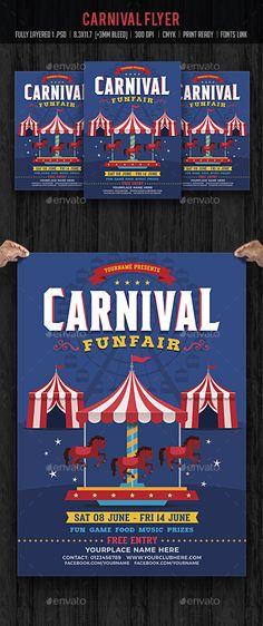 Funfair  Carnival Flyer Pinterest Flyer template, Carnival and