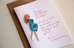 Customizable Happy Birthday From the Baby Bump - Pregnancy Birthday Card $8.50