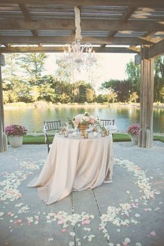Romântico decoração do casamento