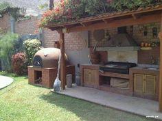 Cocina en terraza #garden #cocina #leña