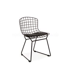 Kids Bertoia Style Wire Side Chair - Black > Bertoia Chairs > Kids | Vertigo Interiors