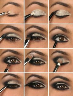 Eyeshadow For Brown Eyes, Smokey Eye For Brown Eyes, How To Apply Eyeshadow, Eyeshadow Makeup, Makeup Brushes, Applying Eyeliner, Brown Eyes Pop, Eyelashes Makeup, Long Eyelashes