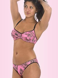 Naked North Pink Camo Bra and Panty