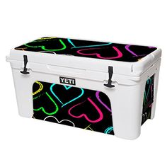 MightySkins Protective Vinyl Skin Decal for YETI Tundra 75 qt Cooler wrap cover sticker skins Hearts >>> You can find more details by visiting the image link.