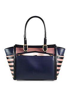 Christian Louboutin - Farida Multi-Media Colorblock Top Handle Bag