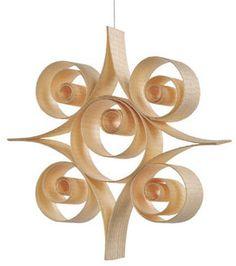 Wood shaving ornament