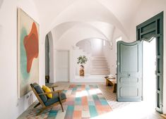 We journey to the Balearic island of Menorca to explore one of its newest luxury stays; The Finca Es Bec d'Aguila by Atelier du Pont. Menorca, Wabi Sabi, Decoracion Vintage Chic, Rural Retreats, Relax, Balearic Islands, Mediterranean Style, Interior Design Studio, Soft Furnishings