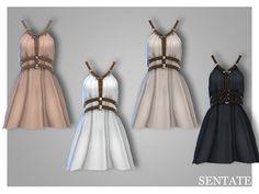 Abernathy Dress - The Sims 4 Catalog The Sims 4 Pc, Sims 4 Mm Cc, Sims Four, Sims 4 Cas, Halter Dress Short, Short Dresses, Vetements Clothing, Sims4 Clothes, Sims 4 Dresses