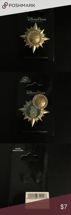 """NWT Disney Parks Jiminy Cricket Pin NWT Disney Parks Jiminy Cricket Pin is Jiminy's conscience badge from Pinocchio and reads """"Official Conscience 18 Kt"""" on the outside. The middle flips open to a picture of Jiminy. Brand new in great condition still on the card. Disney Jewelry Brooches"""
