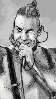 Till Lindemann sketch by nellroshe.deviantart.com on @DeviantArt