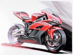 Today I will tell you how to draw a motorbike Honda. Honda Cbr 1000rr, Cbr 600rr, Honda Cbr 600, Concept Motorcycles, Honda Motorcycles, Custom Motorcycles, Motorcycle Images, Motorcycle Bike, Bike Sketch