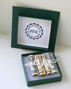 Cute idea for giving money for graduation gift