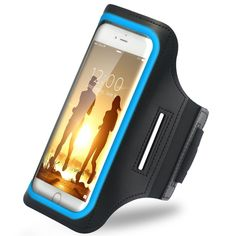 Amazon.com: iBenzer Premium Water Resistant Exercise Armband with Key & ID Card Holder For iPhone 6&6S Plus, SAMSUNG GALAXY, SONY XPERIA,Reflective Strip Gray US-AB0155GY: Cell Phones & Accessories