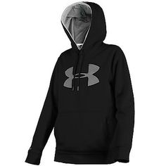 Under Armour Storm Big Logo Hoodie Mens 1259632-002 Black Pullover Hoody Size XL