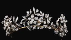 Diamond tiara, late 19th century, formerly in the collection of Countess Constanza Pasolini Zanelli Magnaguti