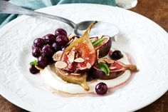 Honey-roasted figs with limoncello creme fraiche