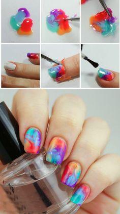 Colorful Gel Addiction Nail Art Tutorial ~ Entertainment News, Photos & Videos - Calgary, Edmonton, Toronto, Canada