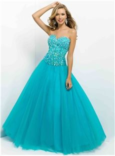 Sequin A-line Sweetheart Chapel 2014 New Style Prom Dress