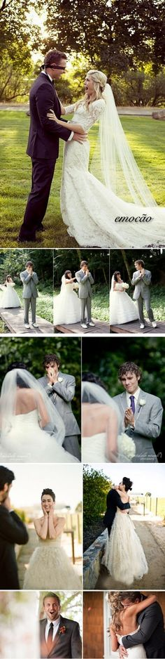 I want a picture of my grooms reaction one day! this is so stinking cute.