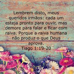 Tiago 1:19-20