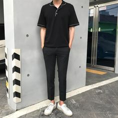 joon in these Korean Outfit Male, Korean Outfits, Boy Outfits, Fashion Outfits, Dope Fashion, Korean Fashion, Kids Fashion, Boyish Fashion, Boys Dresswear