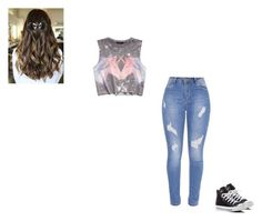 """""""Gym outfit"""" by aaronhitt on Polyvore featuring Forever 21, Disney and Converse"""