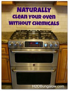 Naturally Clean Your Oven Without Chemicals- It really works! www.H2OBungalow.com