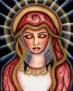 Blessed Virgin Mary by Cat Ashworth Tattoo Artwork Canvas Art Print